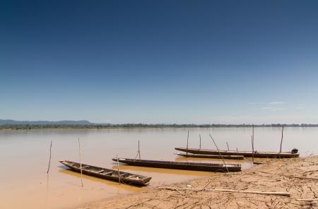 Kayaking along the river port  Stock Photo