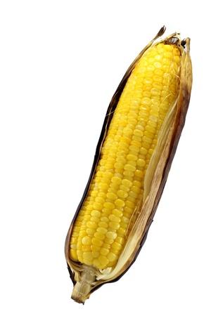 Boiled corn.  Stock Photo