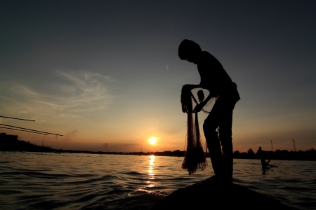 The casting of the Mekong River of Thailand Stock Photo - 17664045