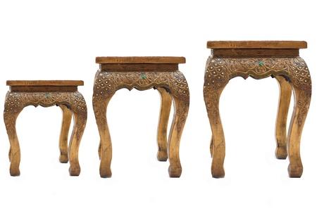 Teak chairs.Set of altar table,Thailand
