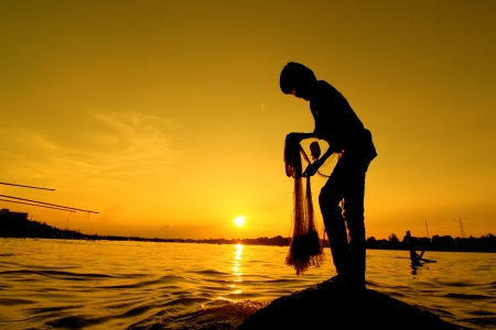 The casting of the Mekong River of Thailand. Stock Photo - 18307004