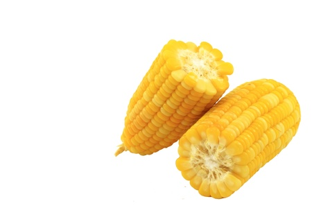 Boiled corn., isolated on background
