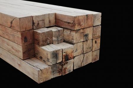 Timber used for railway sleepers.