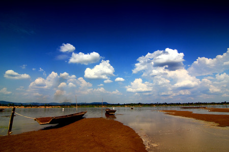 Stuarts Marina of villagers along the Mekong River. photo