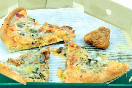 moldy: Pizza moldy Stock Photo