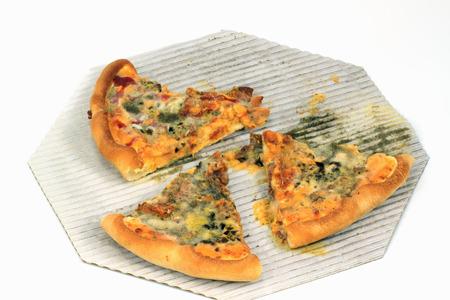 Pizza moldy Stock Photo