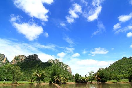 Blue limestone is a beautiful scene