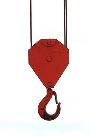 hoisting: Head crane isolated white background  Stock Photo