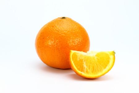 Orange isolated white background