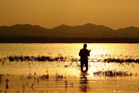 continued: At the end of life but the sun continued to fish  Stock Photo