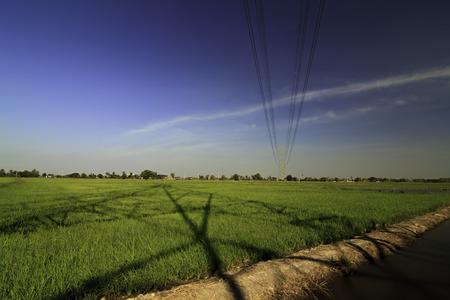 High voltage electricity pylon close-up shooting  Reklamní fotografie