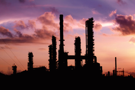 Silhouettes refinery in Thailand