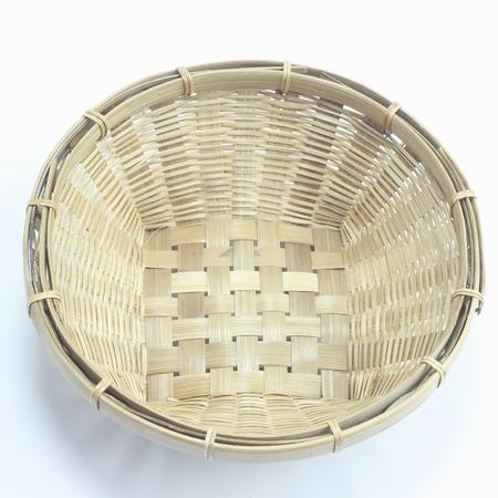 Wooden basket for food photo