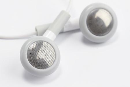 Headphones isolated white .