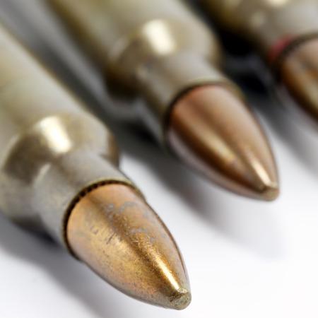 Close up 5.56mm ammunition