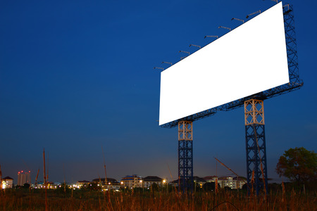 Blank billboard on  Useful for your advertisement