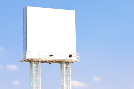 Blank billboard on  Useful for your advertisement.