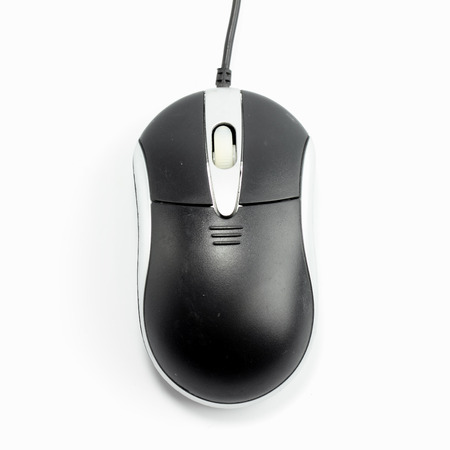 computer mouse on white