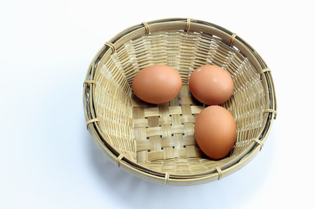 Eggs in one basket Isolation of a white