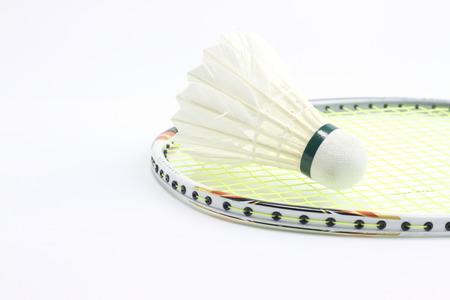 Badminton shuttlecocks isolated on a white . Stock Photo