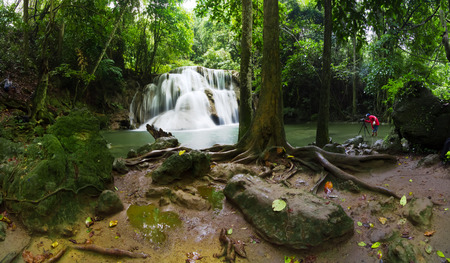 Waterfall and in the forest Thailand