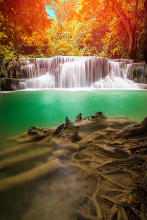 Erawan Waterfall in Kanchanaburi Province, Thailand Stock Photo