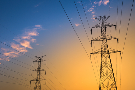 Tower Height voltage power electric transmission feeding energy
