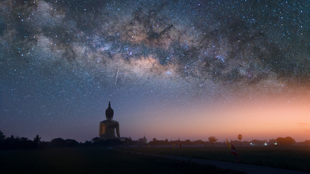 Milky way galaxy with stars in Thailand