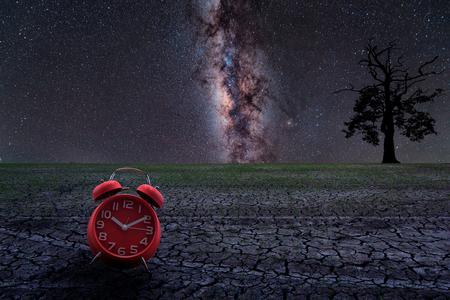 Clock MilkyWay Background