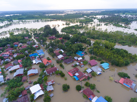 Water flood at Sakon Nakhon, Thailand Stok Fotoğraf - 123294231
