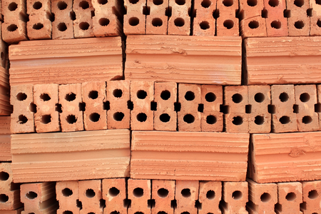 Red brick in order For ease of use in construction