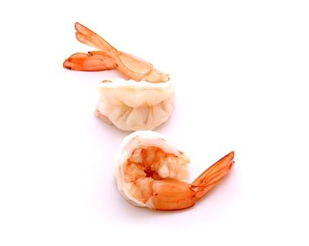 shrimp cocktail: shrimps on a white background Stock Photo