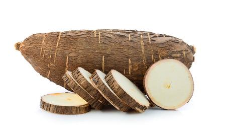 cassava on white background