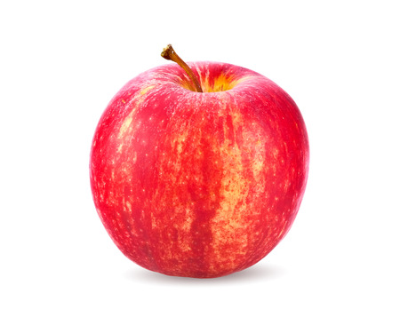 red apple on white background Archivio Fotografico