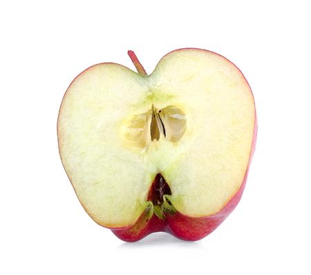 slice apple on white background Archivio Fotografico