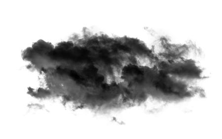 black cloud on white background Archivio Fotografico