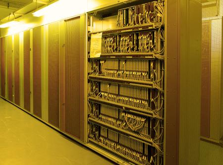network server room with racks Archivio Fotografico