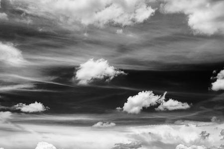 black and white sky and clouds Archivio Fotografico