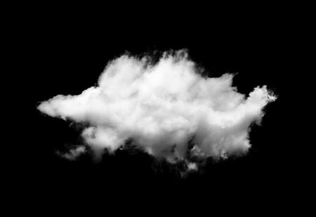 white cloud on blackground