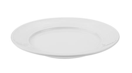 white plate isolated on white background Archivio Fotografico