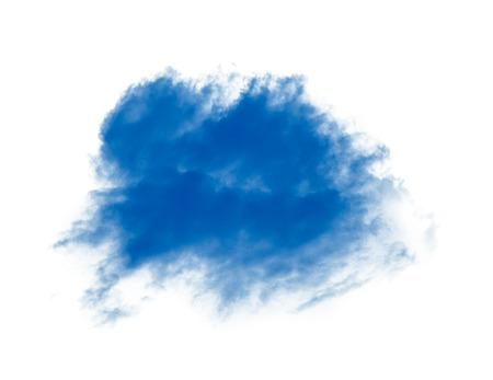 blue cloud or smoke on white Archivio Fotografico