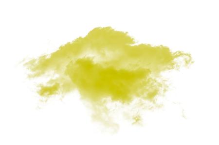 yellow clouds on white background Archivio Fotografico