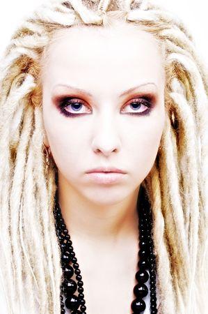 Beautiful white girl with dreadlocks Stock Photo - 3778272