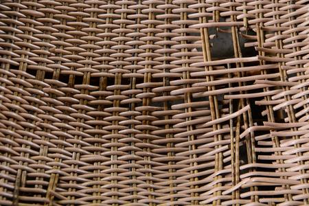 broken chair: a broken rattan chair texture