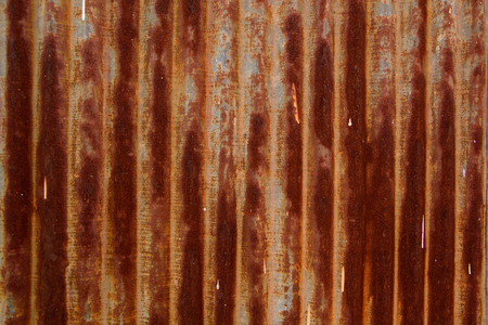 dirty sheet: a dirty galvanized sheet Stock Photo