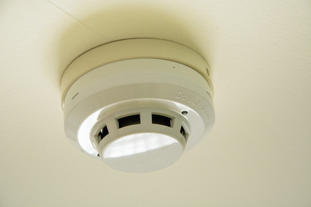sensor: fire smoke sensor on ceiling