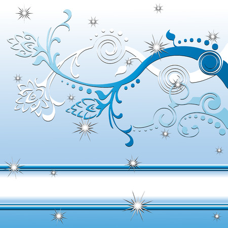 Detailed snowflakes with sparkles, created in white, blue and silver. Can be used as a winter or christmas holiday design. Stock Vector - 3565303