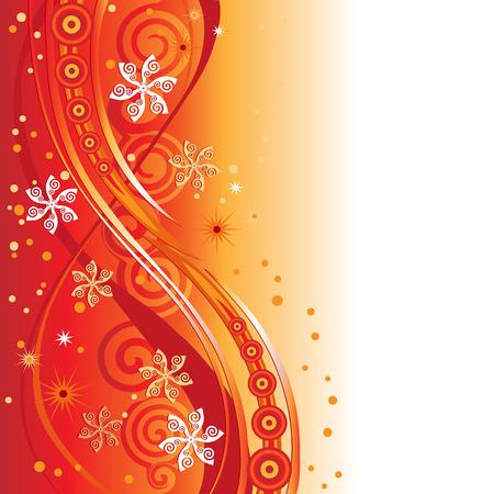 Zwenken sneeuwvlokken, bloemen of pinwheels ontwerp. In aarde tone kleuren.