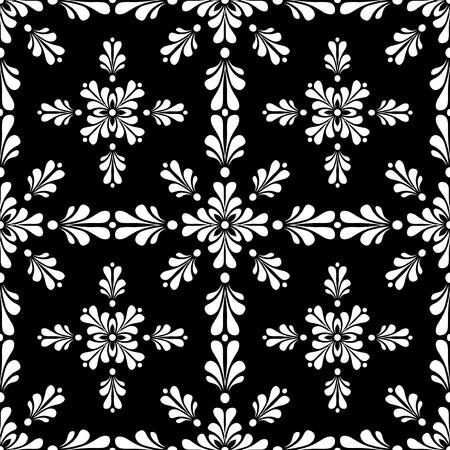 to continue: Estilo victoriano sin papel tapiz de azulejos y baldosas. Creado en blanco y negro.