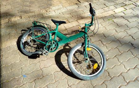 man made object: Retro children bike